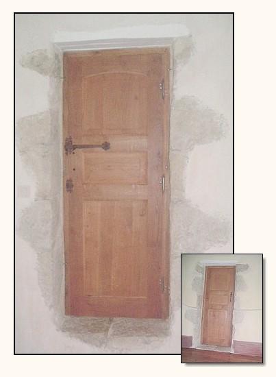 ancienne porte de chambre en ch ne panneaux et traverses. Black Bedroom Furniture Sets. Home Design Ideas